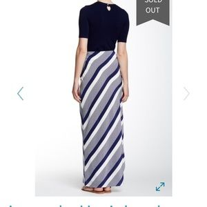 Amanda Uprichard Skirts - Silk flattering bias striped maxi skirt